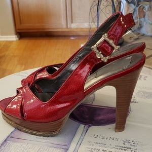 Jessica Simpson Shoes - Jessica Simpson Red Pumps